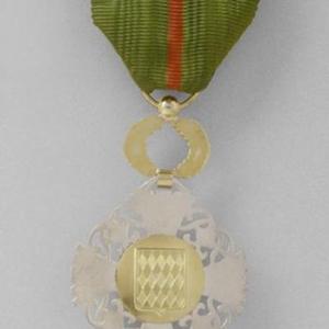 Revers Insigne Chevalier Ordre de la Couronne