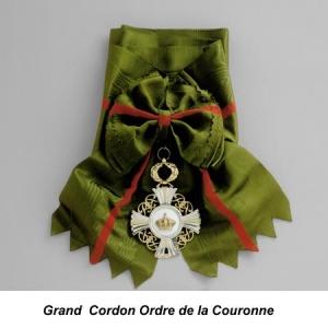 Grand Cordon Ordre de la Couronne