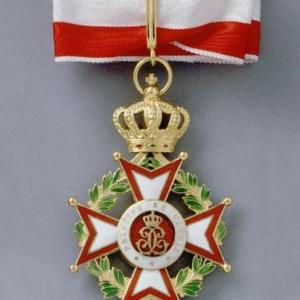 Cravate Commandeur de l'Ordre de Saint Charles