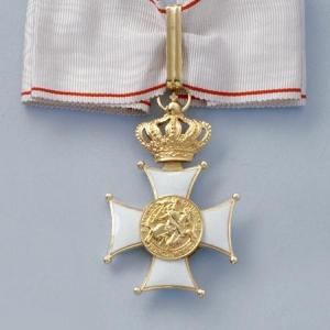 Cravate Commandeur Ordre des Grimaldi
