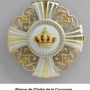 Plaque de l'Ordre de la Couronne