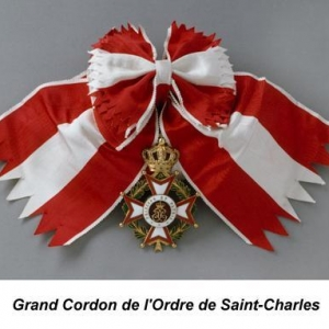 Grand cordon de l'Ordre de Saint Charles - Grand Croix