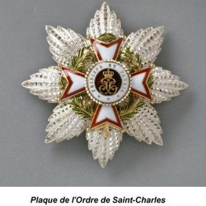Plaque de l'ordre de Saint Charles