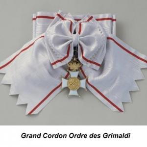 Grand Cordon Ordre des Grimaldi