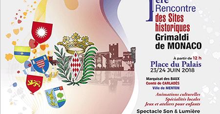 Rencontre des Sites historiques Grimaldi de Monaco, 23 & 24 juin 2018